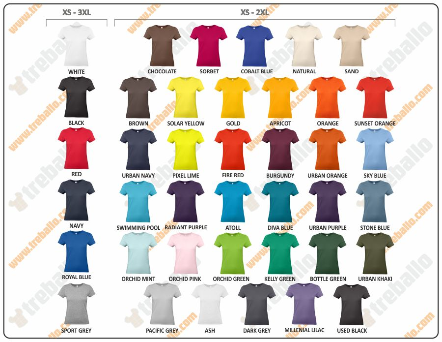 Colores disponibles del ProductoBCE190WW
