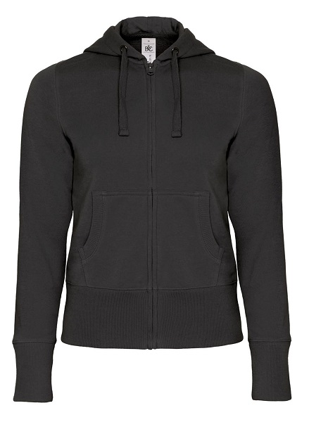 SUDADERA SRA B&C HOODED FULL ZIP WOMEN