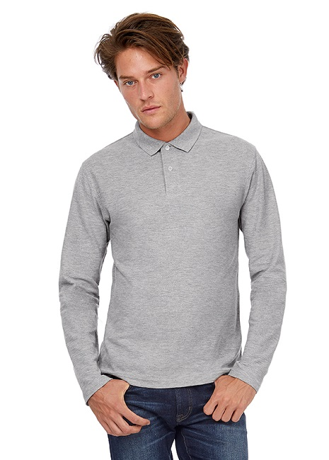 POLO B&C ID.001 COTTON 180G M.LARGA