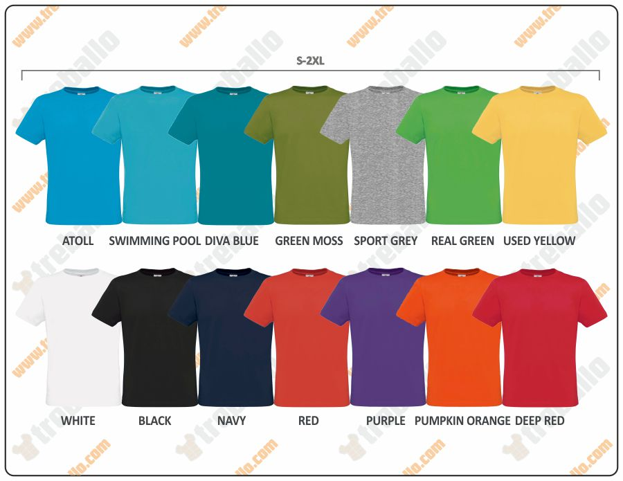 Colores disponibles del ProductoBCMENONLY