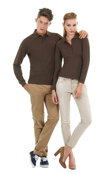 POLO B&C SAFRAN COTTON 180GR M.LARGA