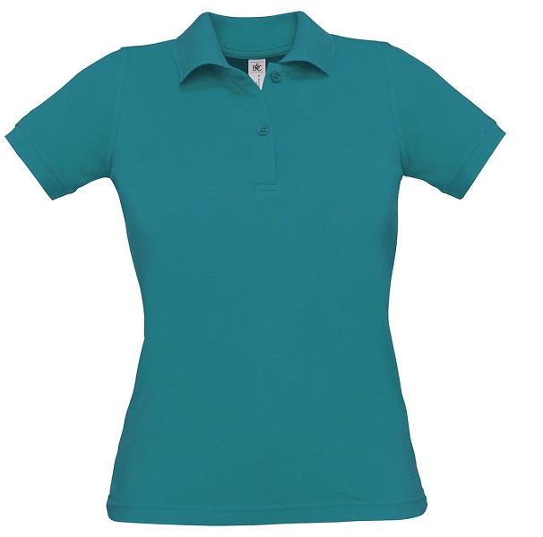 POLO SRA B&C SAFRAN WOMAN PURE MC