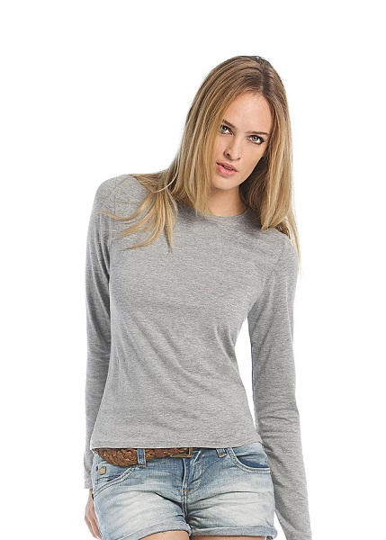 CAMISETA SRA B&C WOMENONLY ML 145 BLANCO