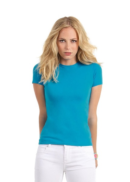 CAMISETA SRA B&C WOMEN ONLY 150G M/C BLA
