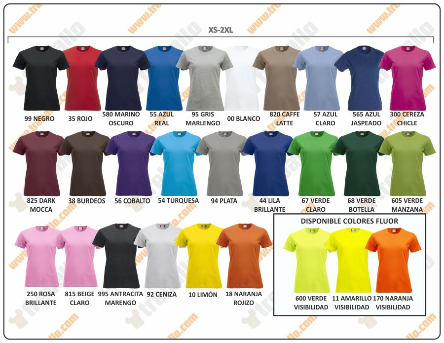 Colores disponibles del ProductoCQ029361