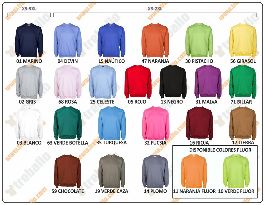 Colores disponibles del ProductoJY001