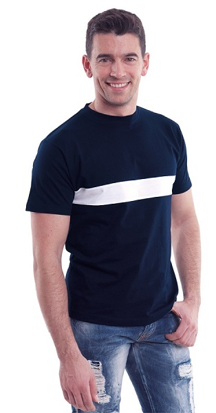 CAMISETA BLUES 185GR COMBI BANDA M/C