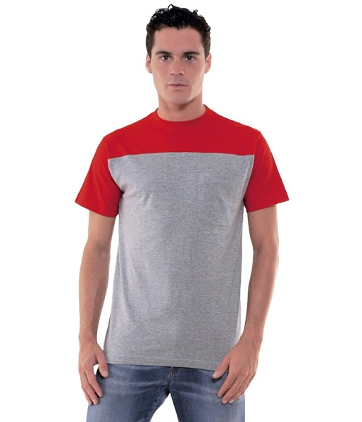 CAMISETA DOCK 185GR BOLSILLO COMBI MC