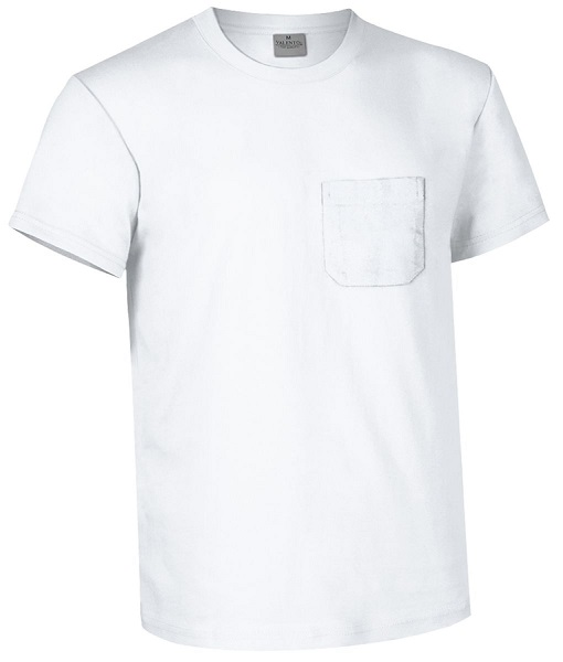 CAMISETA EAGLE 160GR BOLSILLO M/C BLANCO