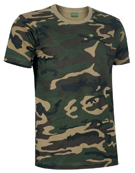 CAMISETA JUNGLE 185GR CAMUFLAJE M/C