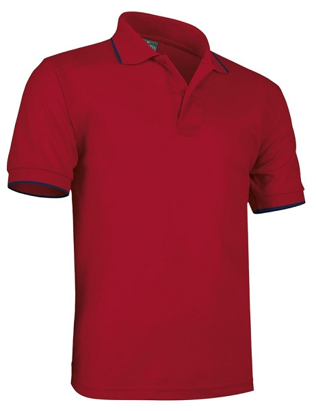 POLO VALENTO COMBI TIPPED COTTON 220G MC
