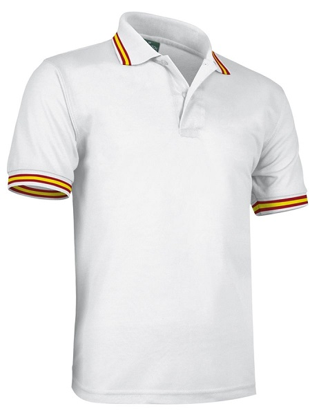 POLO VALENTO BANDERA ESPAÑA COTTON MC