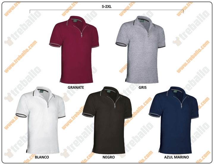 Colores disponibles del ProductoRGPGOLF