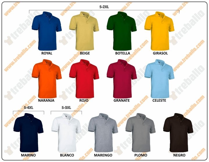Colores disponibles del ProductoRGPHAWK