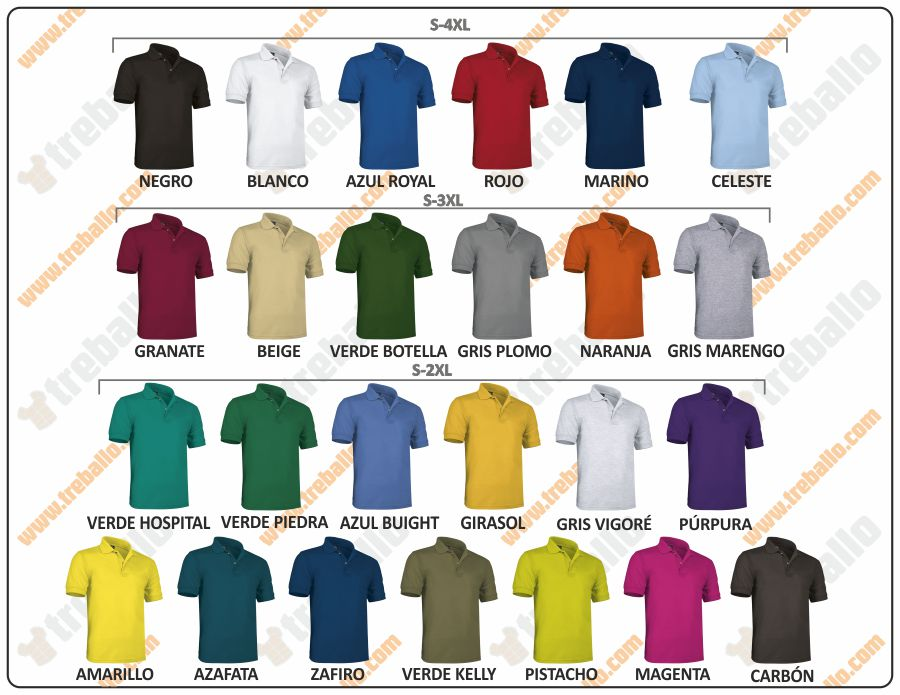 Colores disponibles del ProductoRGPPATROL