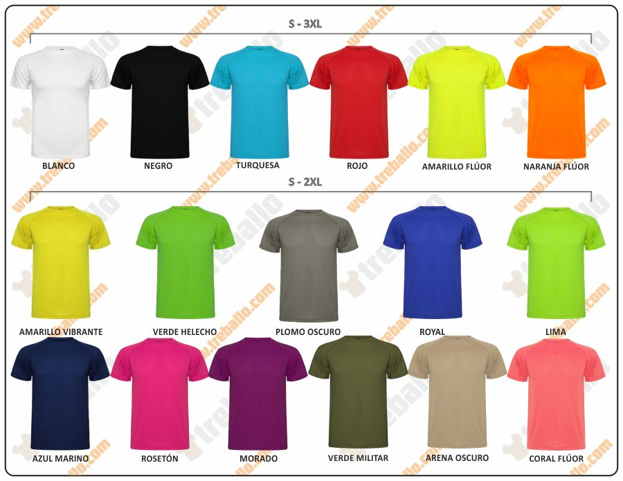 Colores disponibles del ProductoRL0425