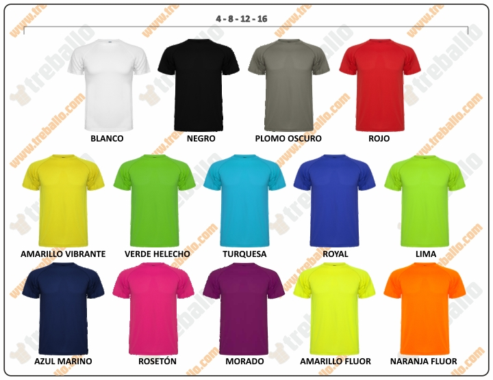Colores disponibles del ProductoRL0425K